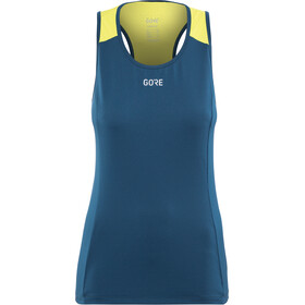 GORE WEAR R7 Sleeveless Shirt Women deep water blue/citrus green